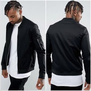 ASOS Muscle Fit Bomber Jacket